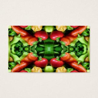 Pfeffer als Kunst - würziges abstraktes Visitenkarte