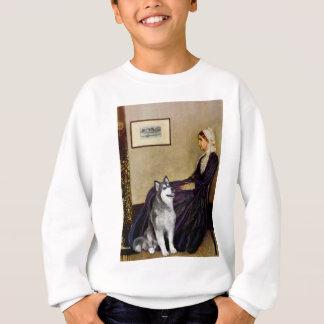 Pfeifer-Mutter - alaskischer Malamute Sweatshirt