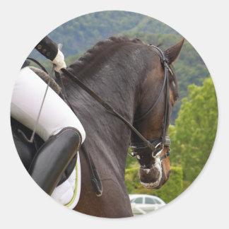 Pferd am Errichten Runder Aufkleber
