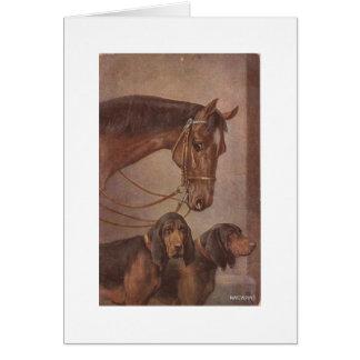 Pferd und Jagdhunde Karte