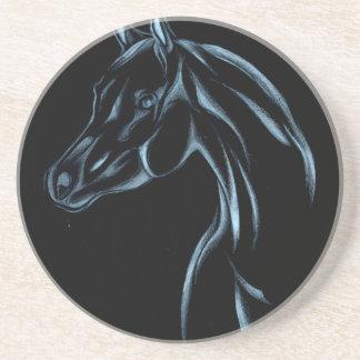 Pferd, welches die Skizzekunst handgemacht Sandstein Untersetzer