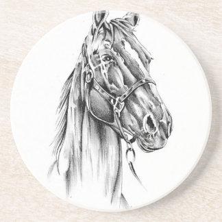 Pferd, welches die Skizzekunst handgemacht Untersetzer