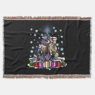 Pferde mit Weihnachtsarten Decke