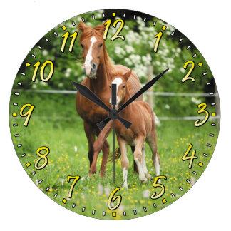 Pferde-u. Fohlen-Wanduhr Uhren
