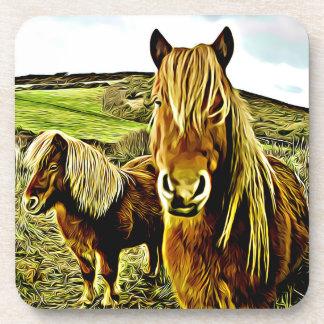 Pferdegrafische Untersetzer - Set von 6