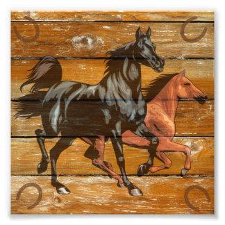 Pferdehufeisen-Scheunen-Holz-Cowboy Photographie