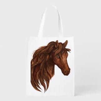 Pferdepferdesport Wiederverwendbare Einkaufstaschen