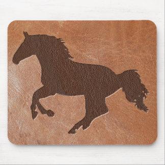 Pferdeprägeartiges Leder Mauspads