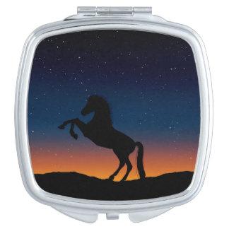 Pferdetiernatur Taschenspiegel