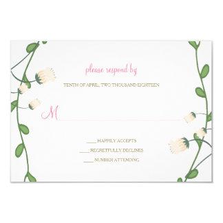Pfingstrosen-Blumenhochzeit UAWG Karte 8,9 X 12,7 Cm Einladungskarte