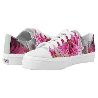 Pfingstrosen-und Rosen-Blumenturnschuhe Niedrig-geschnittene Sneaker