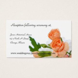 Pfirsich-Blumen, die Einschließungskarten Wedding Visitenkarte