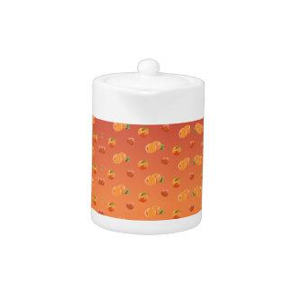 Pfirsich-Frucht-Muster-Teekanne