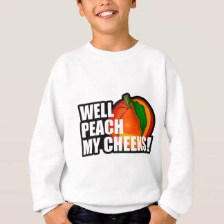 Pfirsich meine Backen Sweatshirt