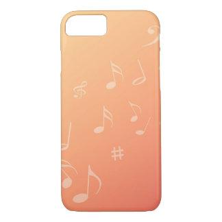 Pfirsich-Musik iPhone 7 Hülle