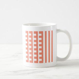 Pfirsichfarbener Kamm-Zahn Kaffeetasse