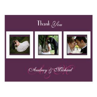 Pflaume/Hochzeit/danken Ihnen Postkarten