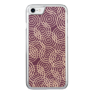 Pflaume kreist lila Ikat Deckung geometrisches Carved iPhone 8/7 Hülle