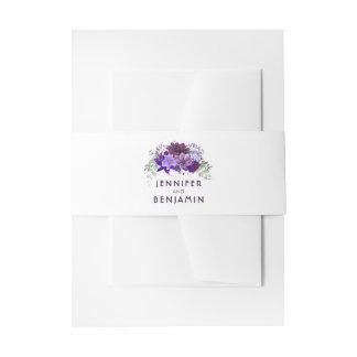 Pflaume lila und violette Wedding Blumen Einladungsbanderole