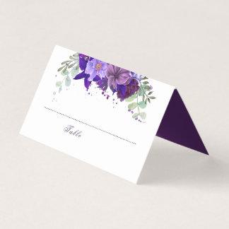 Pflaume und violette lila elegante mit platzkarte