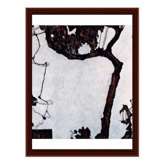 Pflaumen-Baum durch Schiele Egon Postkarte