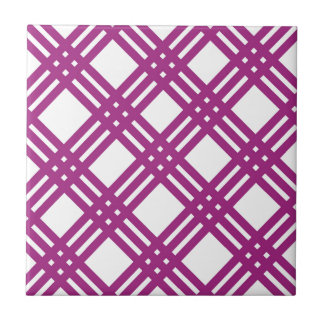 Pflaumen-lila Gitter Kleine Quadratische Fliese