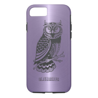 Pflaumen-lila metallischer Hintergrund mit iPhone 8/7 Hülle
