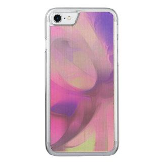 Pflaumen-Saft-Pastellabstraktes Carved iPhone 8/7 Hülle