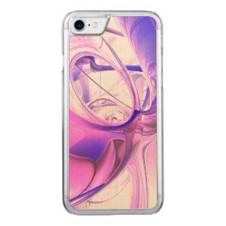 Pflaumen-Säfte abstrakt Carved iPhone 8/7 Hülle