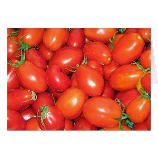 Pflaumen-Tomaten Karte