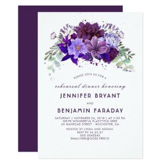 Pflaumen-violettes lila elegantes Proben-mit 12,7 X 17,8 Cm Einladungskarte