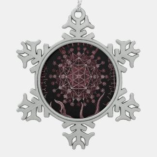 Phaeodaria SeeMuschel-Detail 1879 Schneeflocken Zinn-Ornament