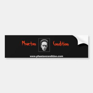 Phaeton-Zustand Bumber Aufkleber Autoaufkleber