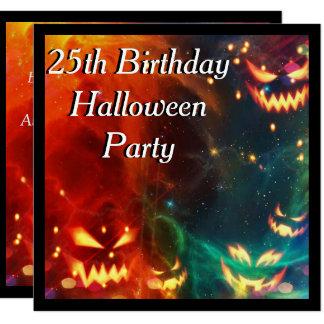 Phantomkürbis-25. Geburtstags-Party Quadratische 13,3 Cm Einladungskarte