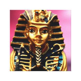 Pharao-alte ägyptische Statue-Grab-Kunst-Leinwand Galerie Faltleinwand