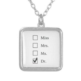 PhD-Geschenke für Frauen Halskette Mit Quadratischem Anhänger