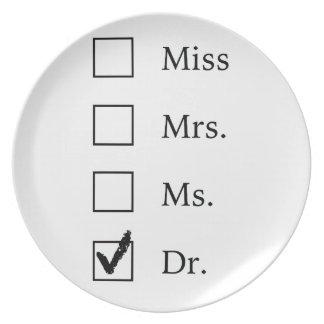 PhD-Geschenke für Frauen Teller