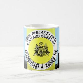 Philadelphia 100% geboren und angehoben tasse