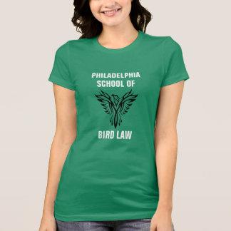 Philadelphia-Schule von Vogel-Gesetzeskelly-Grün T-Shirt
