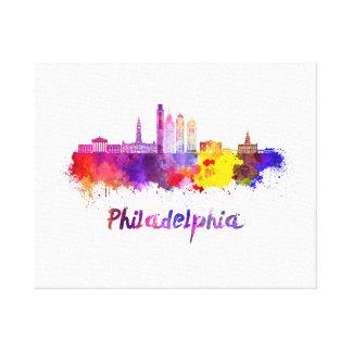 Philadelphia V2 skyline im Watercolor Leinwanddruck