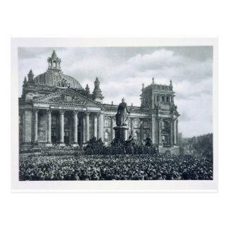 Philipp Scheidemann (1865-1939) gibt eine Adresse Postkarte