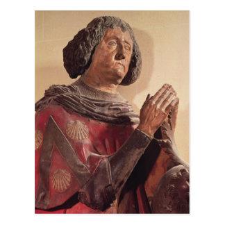 Philippe de Commynes von seinem Grab Postkarte