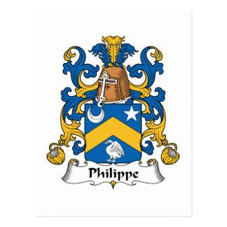 Philippe-Familienwappen Postkarte
