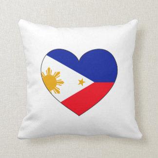 Philippinen-Flaggen-Herz Kissen