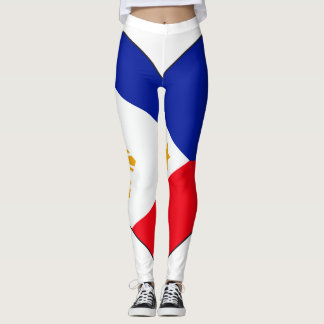 Philippinen-Flaggen-Herz Leggings