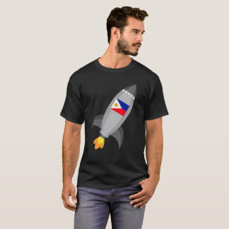 Philippinen-Flaggen-Rocket-Schiff T-Shirt