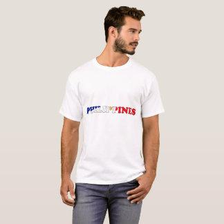 Philippinen-Flaggen-Spaß-Schriftart T-Shirt