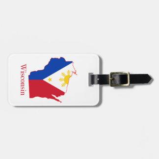 Philippinen kennzeichnen über gepäckanhänger