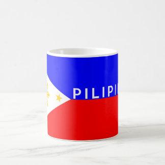 Philippinen pilipinas Flaggenland-Textname Kaffeetasse