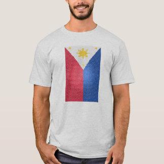 Philippinische Flagge befleckt T-Shirt